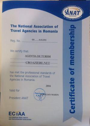 Certificat de membru - ANAT