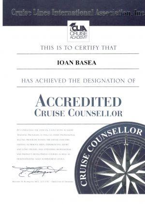CLIA - Accredited Cruise Counsellor - Ioan Basea