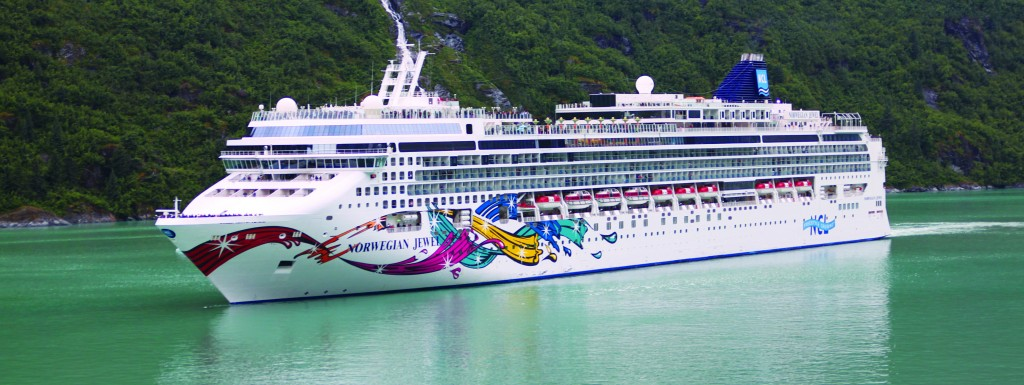 Norwegian Jewel sailing in Tracy Arm Fjord