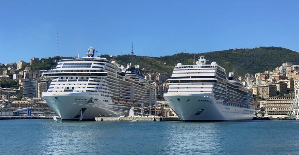 CRUISE_MSC_ships_in_Genoa