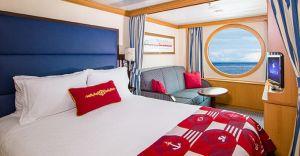 Cabina exterioara de lux cu vedere la mare, categoria 9A