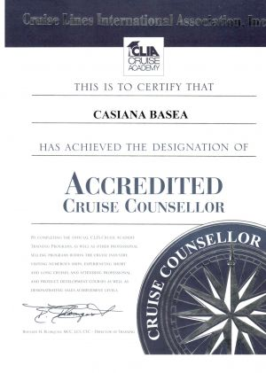 CLIA - Accredited Cruise Counsellor - Casiana Basea